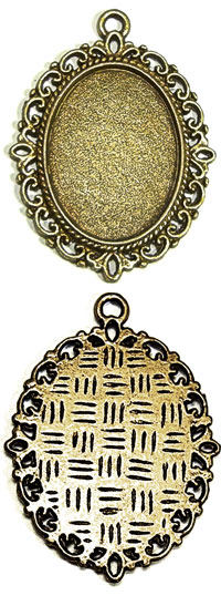 Oval Filigree Pendant